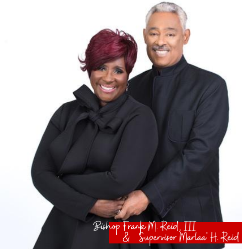 Bishop Frank and Supervisor Marlaa' Reid
